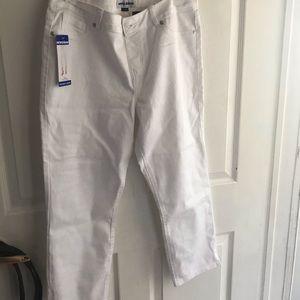 Skinny Crop White Pants